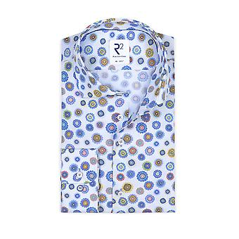 R2 Long Sleeved Shirt Blue Floral