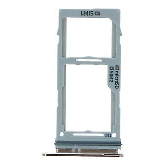Dual Gold SIM Card Tray For Samsung Galaxy S10/S10 Plus