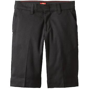 Dickies Big Girls' Stretch Bermuda Short, Black, 12