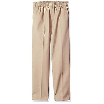 Genuine School Uniform Boys Twill Pant (More Styles Available), Pull On Khaki...