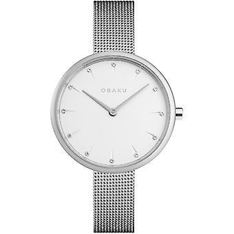 Obaku Notat Steel Women's Mesh Strap Wristwatch V233LXCIMC