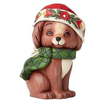 Jim Shore Christmas Puppy Mini Collectors Figurine