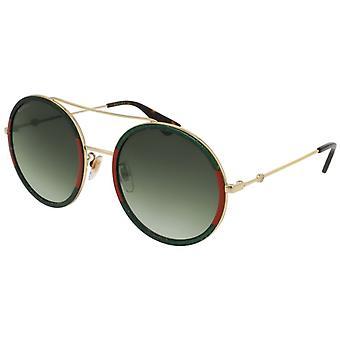 Gucci GG0061S 008 Gold-Grün/Grün Gradient Sonnenbrille