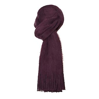VIZ-A-VIZ Raspberry Knitted Fur Scarf