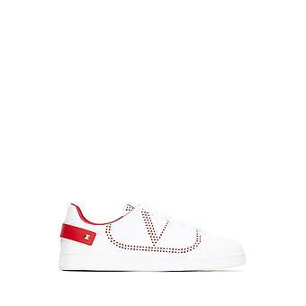Valentino Garavani Ty2s0c04dyhds5 Heren's Witte Leren Sneakers