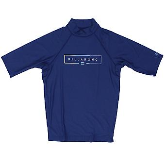 Billabong Unity Short Sleeve Rash Vest in Dark Blue