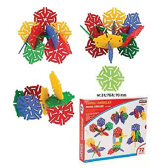 Pilsan 03294 Plug-in blocks, plug-in flowers, 72 pieces, element size 3 x 76 x 70 mm