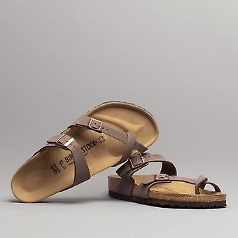 Birkenstock Mayari 071061 (reg) Ladies Birko-flor Cross Strap Sandals Nubuck Mocca