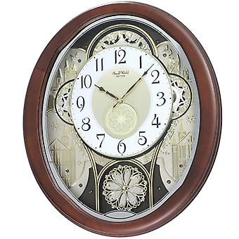 Rhythm 7876 Wall Clock MAGIC MOTION beweegbare wijzerplaatmelodieën