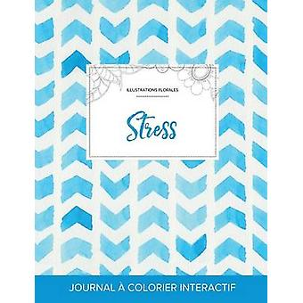 Journal de coloration adulte Stress Illustrations florales Chevron aquarelle by Wegner & Courtney
