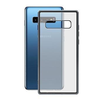 Copertura mobile Samsung Galaxy S10 KSIX Flex Metal TPU Trasparente Grigio Metallico Metallico