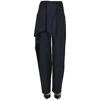 Chloé Ezgl079038 Women's Blue Wool Pants