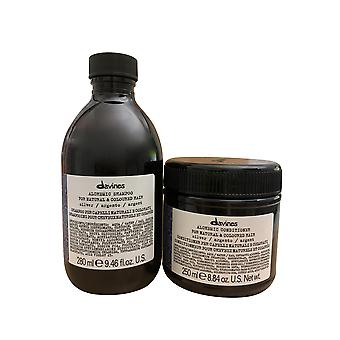 Davines Alchemic Shampoo & Conditioner Silver 8.84 OZ Set