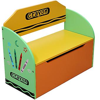 Kiddi stijl Crayon Toy Box + Bench