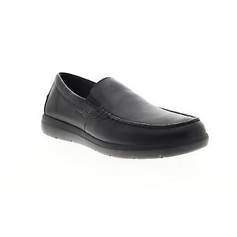 Geox U Leitan  Mens Black Loafers & Slip Ons Moccasin Shoes
