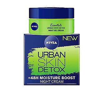 Nivea Urban Skin Detox Night Gel Cream +48h Moisture Boost 50ml Anti Oxidants en Groene Thee