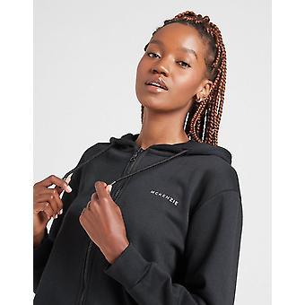 Nya McKenzie Kvinnor & s Essential Full Zip Pojkvän Hoodie Svart