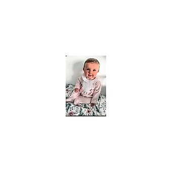 Zippy Babygrow Velvet Two Bows Pink