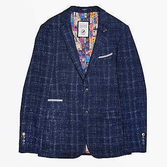 En fisk som heter Fred - Cross-Hatch Jersey Blazer - Navy