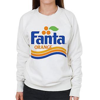 Fanta orange 1980 retro Wave logo kvinnors Sweatshirt