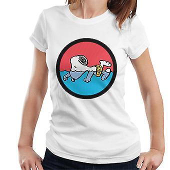 Peanuts Snoopy Pływanie T-Shirt damski