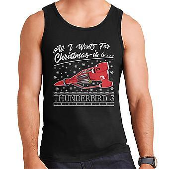 Thunderbirds All I Want For Christmas Is Thunderbird 3 Men's Vest