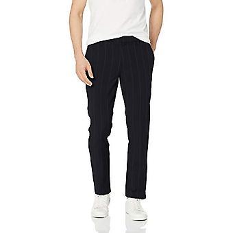 Merkki - Goodthreads Men's Slim-Fit Modern Comfort Stretch Chino Pant, Navy Pinstripe, 33W x 32L