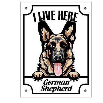 Blaszana płyta Schäfer Kikande znak psa Owczarek niemiecki