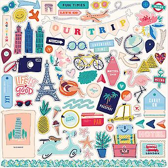 Carta Bella Let's Travel 12x12 Inch Element Sticker