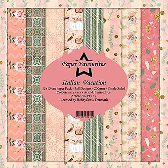 Paper Favourites Italian Vacation 6x6 Inch Paper Pack