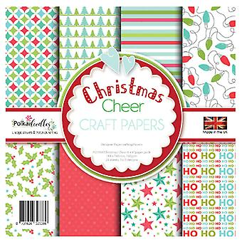 Polkadoodles Christmas Cheer 6x6 Inch Paper Pack