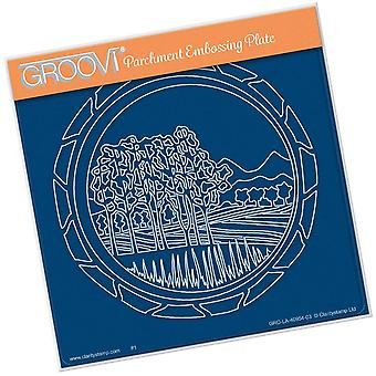 Groovi Napa Valley Round A5 Square Plate