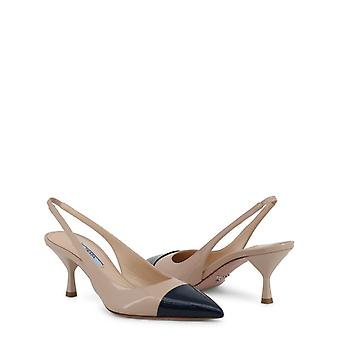 Prada women's ankle strap pointed toe courts