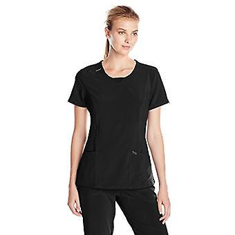 شيروكي المرأة & apos;ق اللانهاية طاقم الرقبة الدعك قميص, أسود, متوسطة
