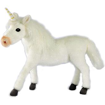 Plush - Hansa - Unicorn 11'' (All White) Soft Doll New 6956