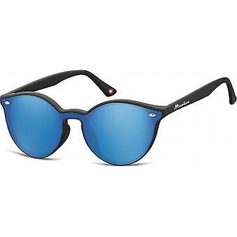 Aurinkolasit Unisex panto matta musta/sininen (MS46)