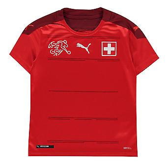 Puma Kinder Schweiz Home Shirt 2020 Fußball Crew Hals Kurzarm dryCELL