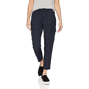 Brand - Daily Ritual Women's Tencel Patch Pocket Cargo Pant, Navy, 14