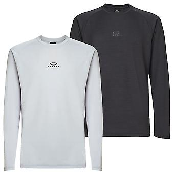 Oakley Mens 2020 Foundational Heathered Long Sleeve Stretch T-Shirt