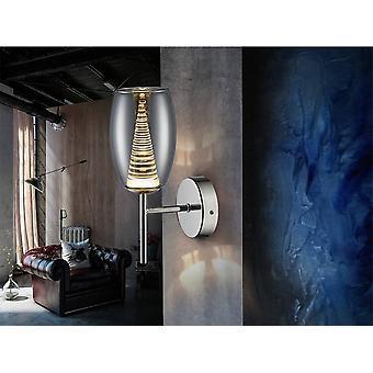 Integroitu LED Crystal Wall Lamppu Kromi