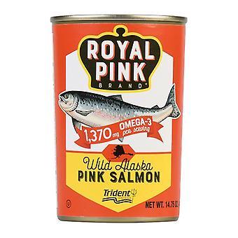 Kráľovská ružová značka divoké Aljašky ružový losos