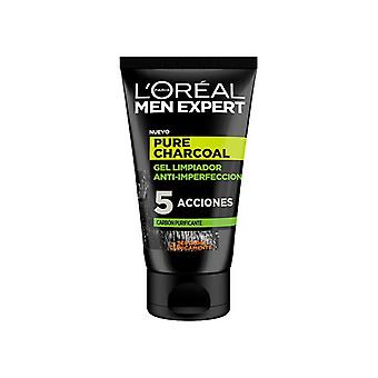 Gel nettoyant visage Pure Charcoal L'Oreal Make Up (100 ml)