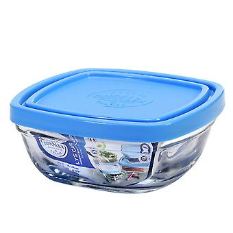 Duralex Freshbox Stacking Bowl Lunchbox with Lid - Freezer Safe - Square - 11cm