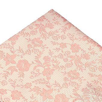 Solmiot Planet Natural & Dusky Vaaleanpunainen Kukka Kuviollinen Pocket Square Nenäliina