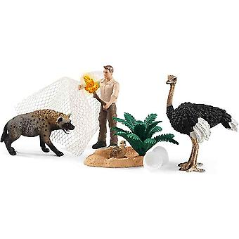 Schleich hyena attack play set for children over 3 years old