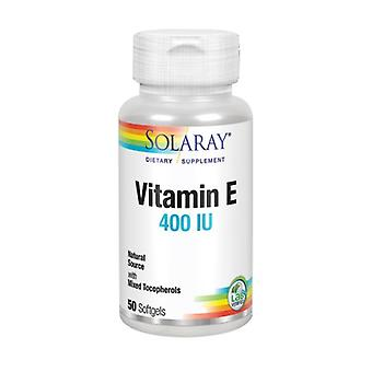 Solaray Vitamin E, 400 IU, 50 Softgels