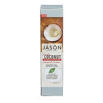Jason Natural Products Simply Whitening Toothpaste Coconut Cream, 4.2 Oz