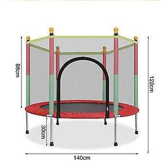 Round Baby Mini Trampoline Enclosure Net Pad, Kids Jumping Bed