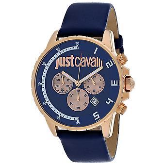 ジャスト カヴァッリ メン&アポス スポーツ ブルー ダイヤル ウォッチ - JC1G063L0235