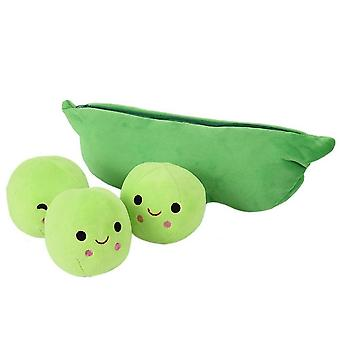 Creative Cute, 3 Peas In A Pod Plush Toy, Soft Pillow On Birthday/xmas